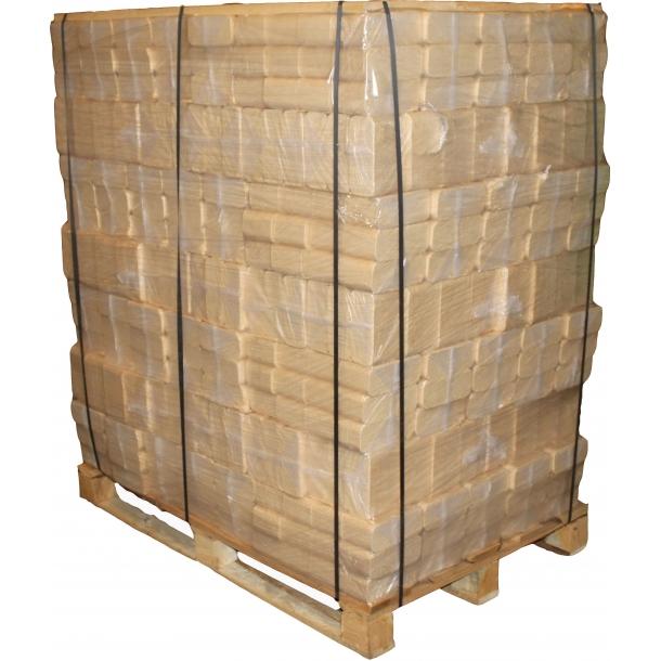 FIRKANTEDE TRÆBRIKETTER 96 pakker af 10 kg